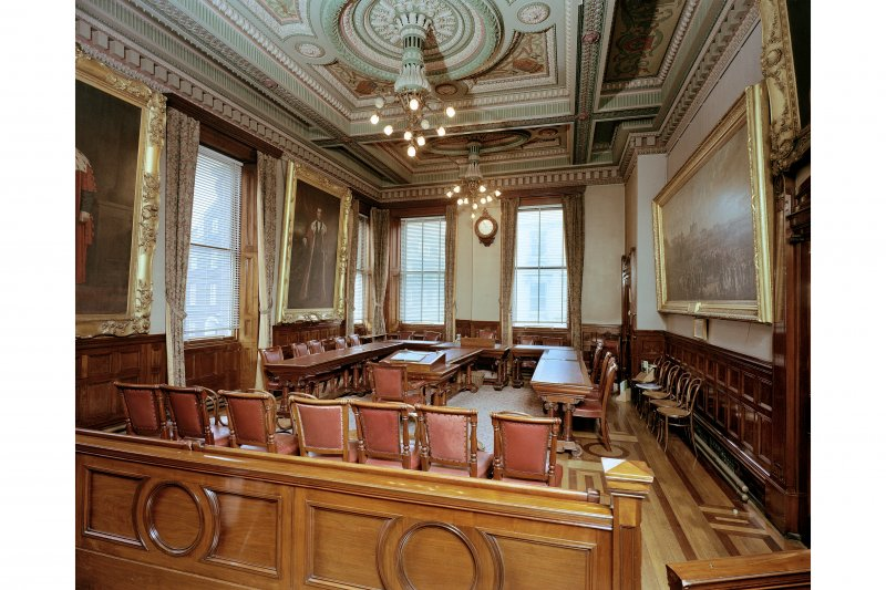 Interior, council chamber, general view