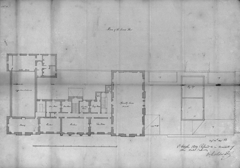 "Edinburgh, Constitution Street, Leith Exchange Buildings. Photographic copy of plan of Second Floor. Insc: ""Plan of the Second Floor"""