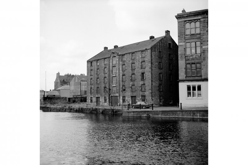 Edinburgh, Commercial Wharf, Warehouse View from E showing SE front and part of NE front