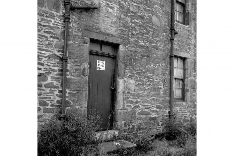 New Lanark, 49-127 Rosedale Street View from NE showing doorway for numbers 109-117