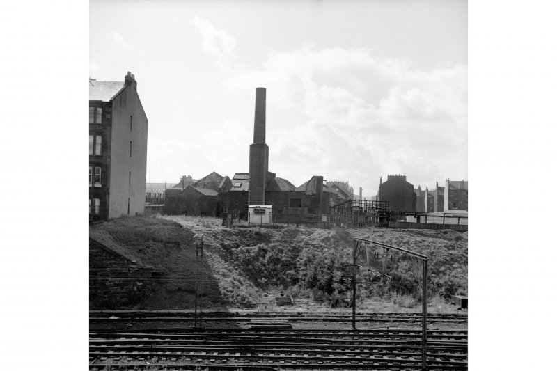 Glasgow, Slatefield Street, Slatefield Brewery View from N showing chimney and NNE front