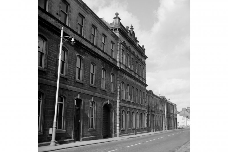 Dunfermline, Pilmuir Street, Pilmuir Works View of S face and S half of Pilmuir Street frontage, from SE