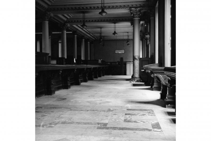 Glasgow, 110-118 (even) Queen Street, British Linen Bank; Interior View of counters
