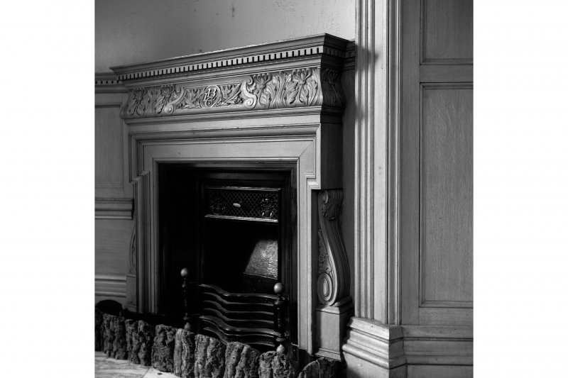 Glasgow, 110-118 (even) Queen Street, British Linen Bank; Interior View of fireplace
