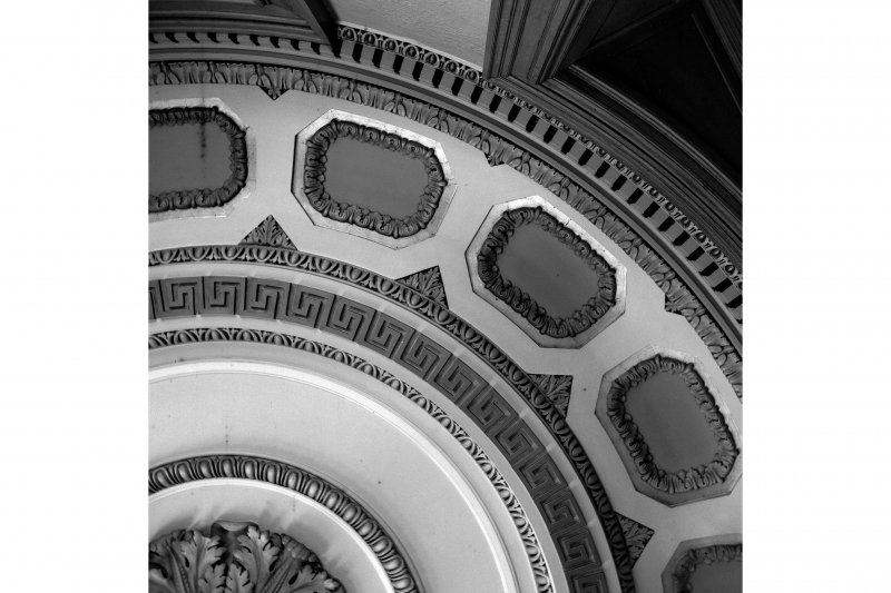 Glasgow, 110-118 (even) Queen Street, British Linen Bank; Interior View of ceiling detail