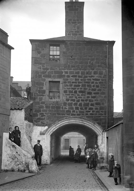 The Citadel Arch, Dock Street, Edinburgh with people. Since demolished.