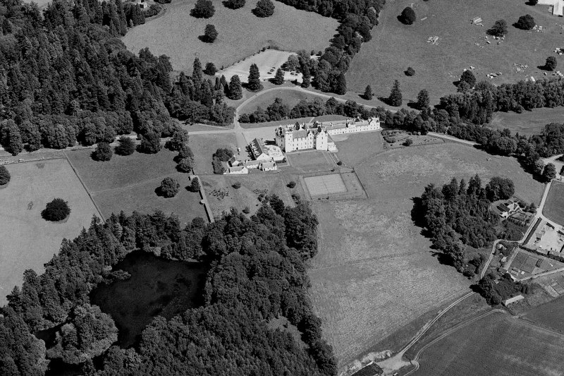 Aerial view of Blair Castle:  Digital image of PT 12023.