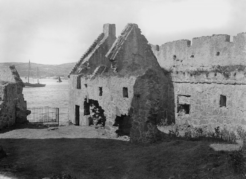 Barra, Kisimul Castle, view of hall prior to restoration.