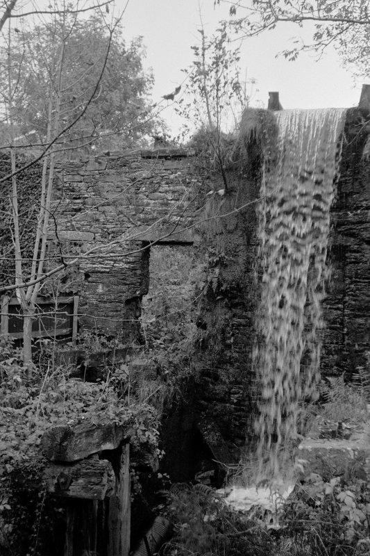 Gatehouse of Fleet, Birtwhistle Mills View showing site of waterwheel