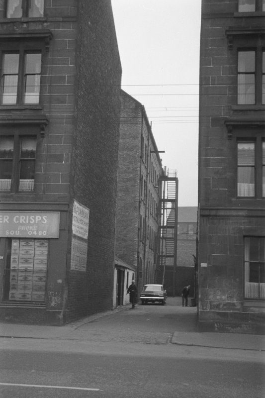 Glasgow, 210 Ballater Street, Quilt Factory View looking SW down lane showing Quilt Factory in background
