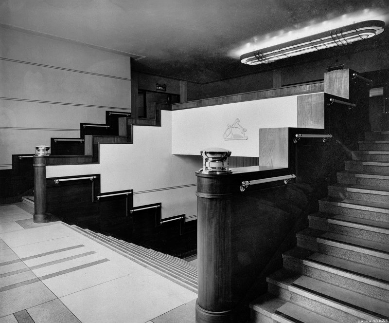 View of interior staircase at Rothesay Pavilion, Bute