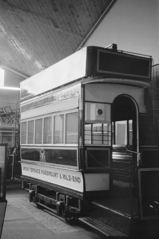 Interior View showing Aberdeen horse tram
