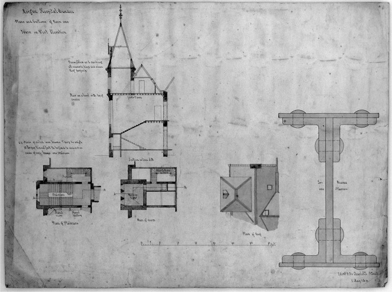 Plans, sections and elevations. Scanned D 39801.