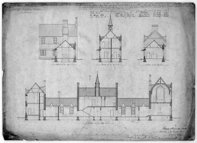 Plans, sections and elevations. Scanned image of D 39795.