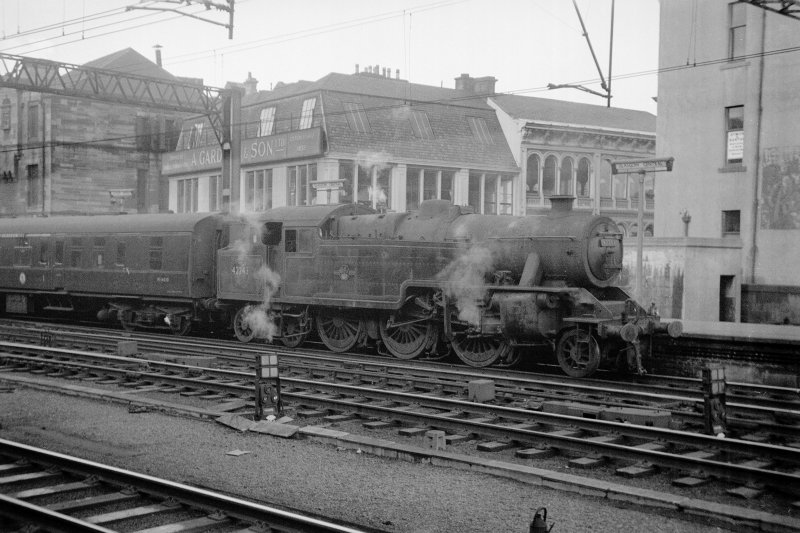 View from WSW showing steam train at Central Station with Gardner's Warehouse in background