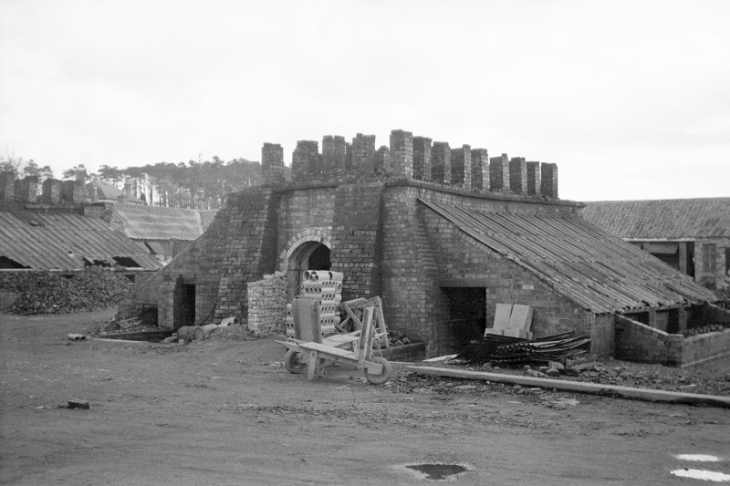 View from NNE showing NW and NE fronts of N updraught tile kiln