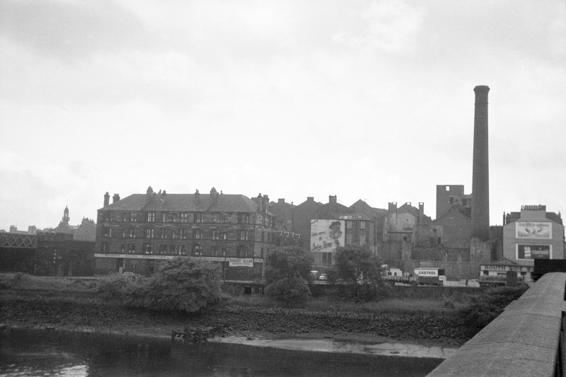 View from N showing NE front of distillery and NE front of tenements