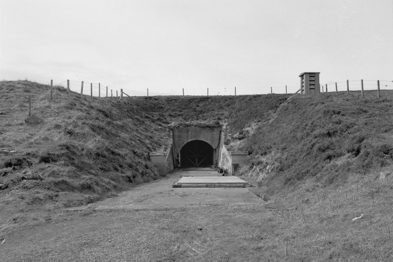 North tunnel, view of entrance from North.