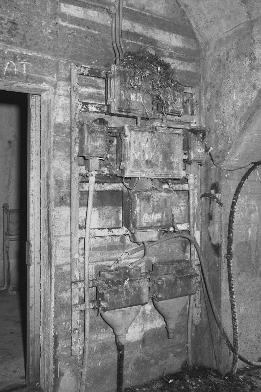 South tunnel, switch room, detail of switchgear.