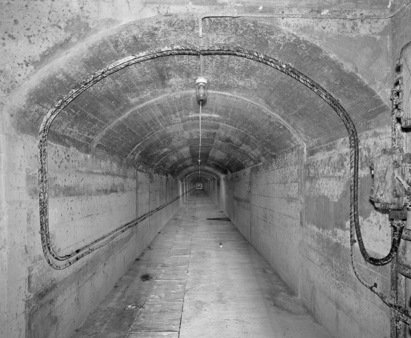 North tunnel, view of interior from entrance to North.