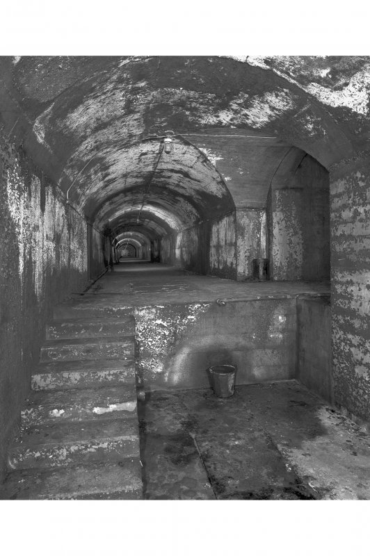 Tank access tunnel, view of interior from West.