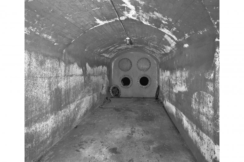 Tank access tunnel, view of tank end.