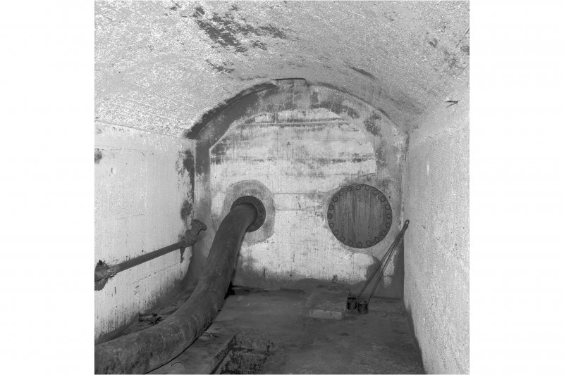 Tank access tunnel, detail of tank end.