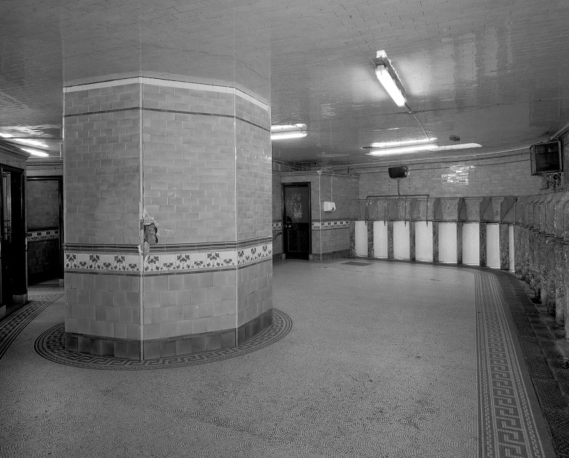 Aberdeen, Union Terrace Gentlemen's Public Toilets, interior view showing row of 23 stall urinals