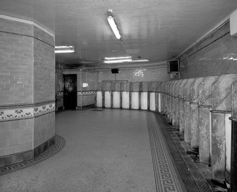 Aberdeen, Union Terrace Gentlemen's Public Toilets, view showing 23 stall urinals