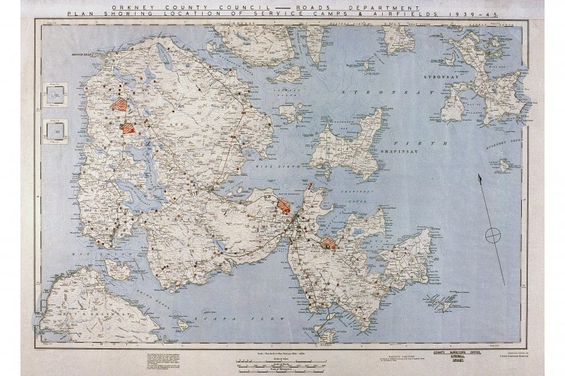 Plan showing location of service camps and airfields (1939-1945)
