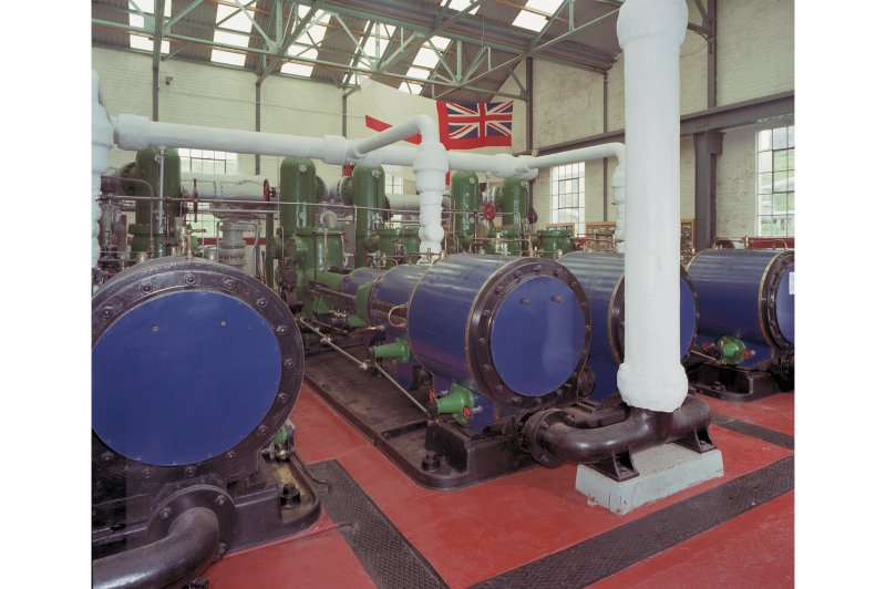 Pump room, interior.   View from North East