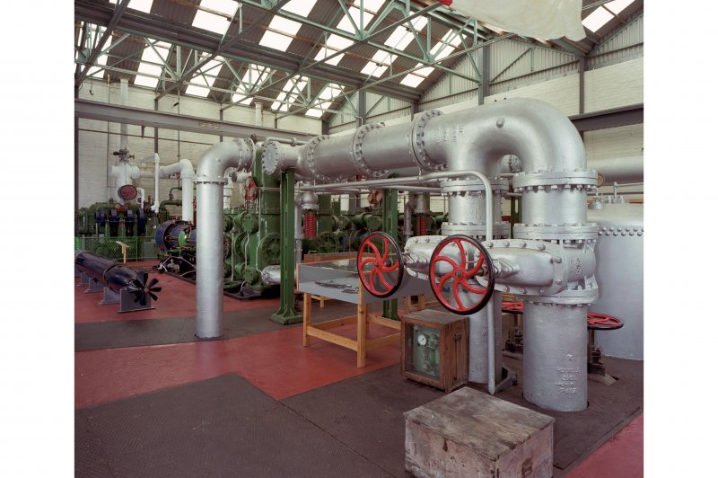 Pump room, interior.   View of pump room from South West