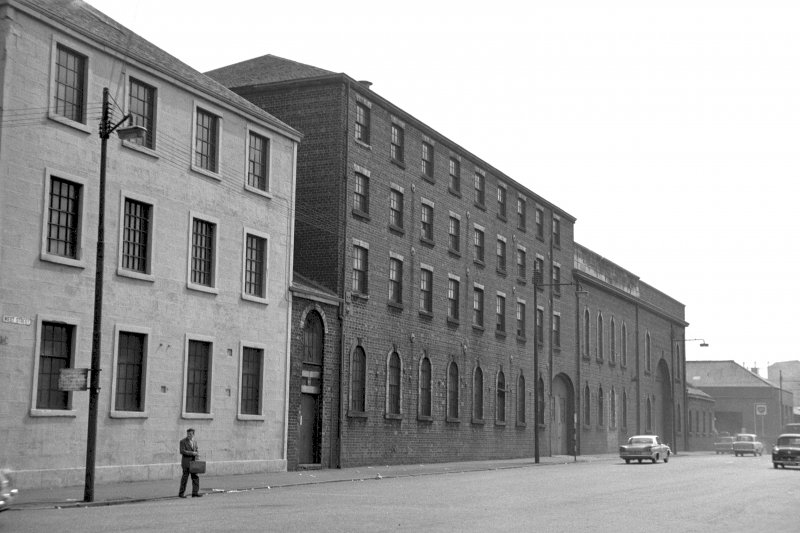 General view from N showing WNW front (West Street front) of works