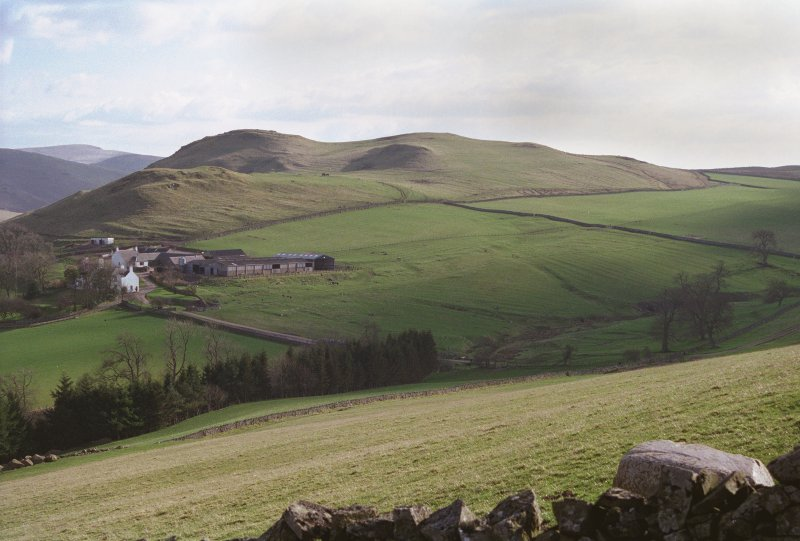 View of Chatto Craig fort and village of Upper Chatto from the north