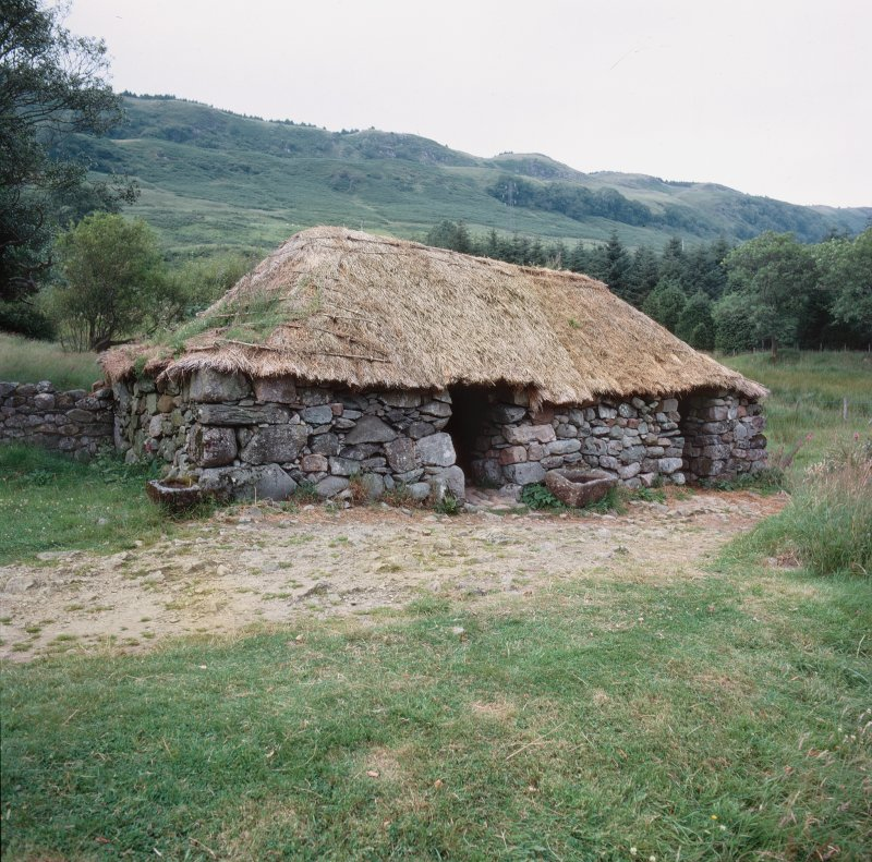Scanned image of Auchindrain, Building G. View from South West.