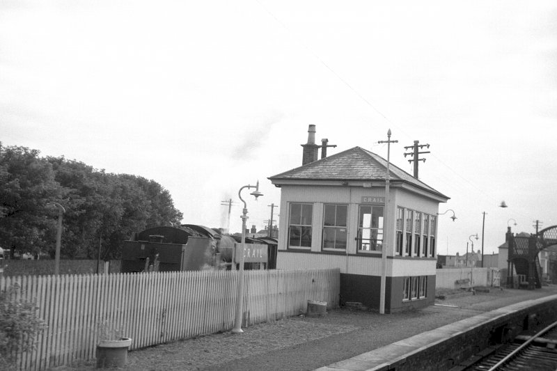 View from NW showing NNW and WSW fronts of signal box