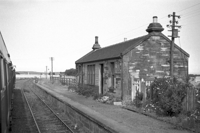 View from S showing WSW and SSE fronts of main station building