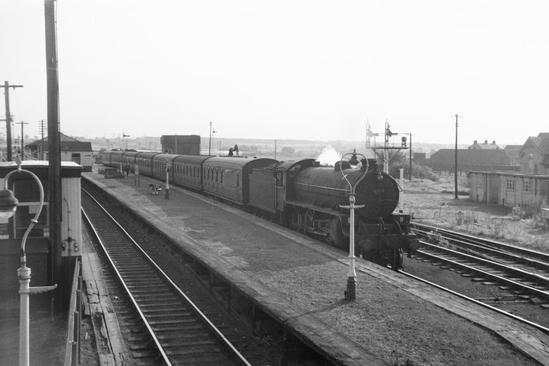 View showing steam train at station