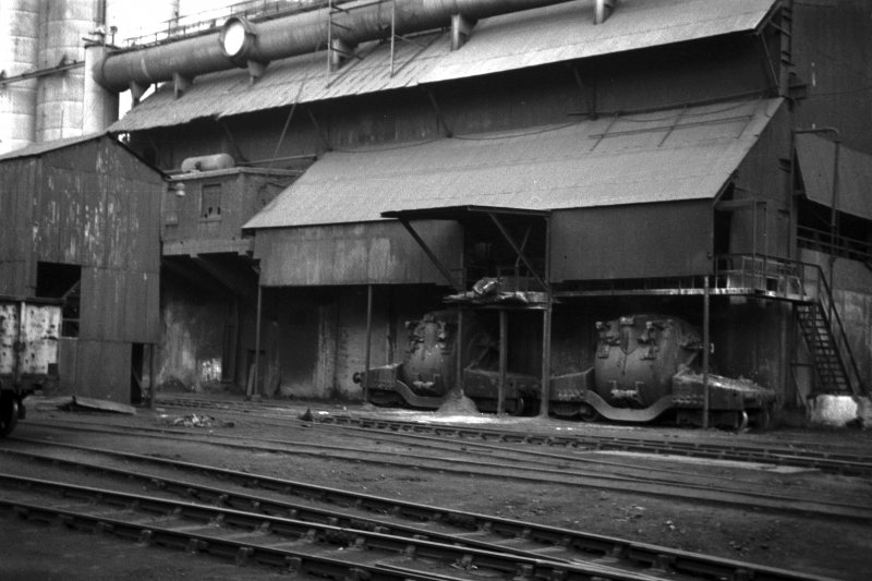 View showing hot-metal wagons for transferring iron to Clydebridge Steel Works from Clyde Iron Works