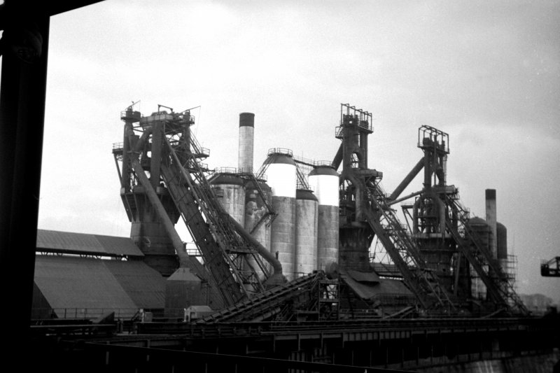 View showing blast furnaces