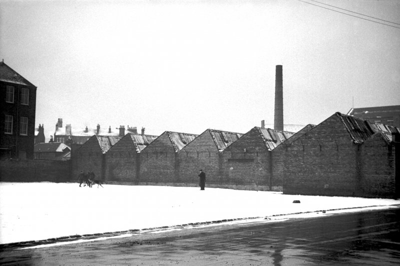 View from ENE showing ESE front of weaving sheds