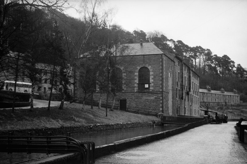 View from WNW showing NW and SW fronts of engine house with Institute in background