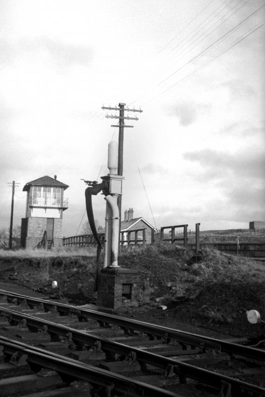 View from W showing water column with signal box and part of main station building in background