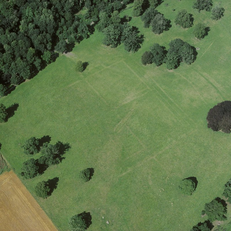 Scanned image of Floors Castle, formal garden Aerial view