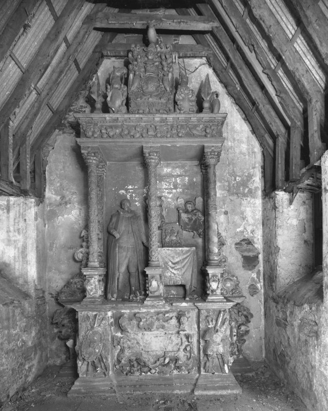 Kinnoull, Old Parish Church. General view of monument inside vault.