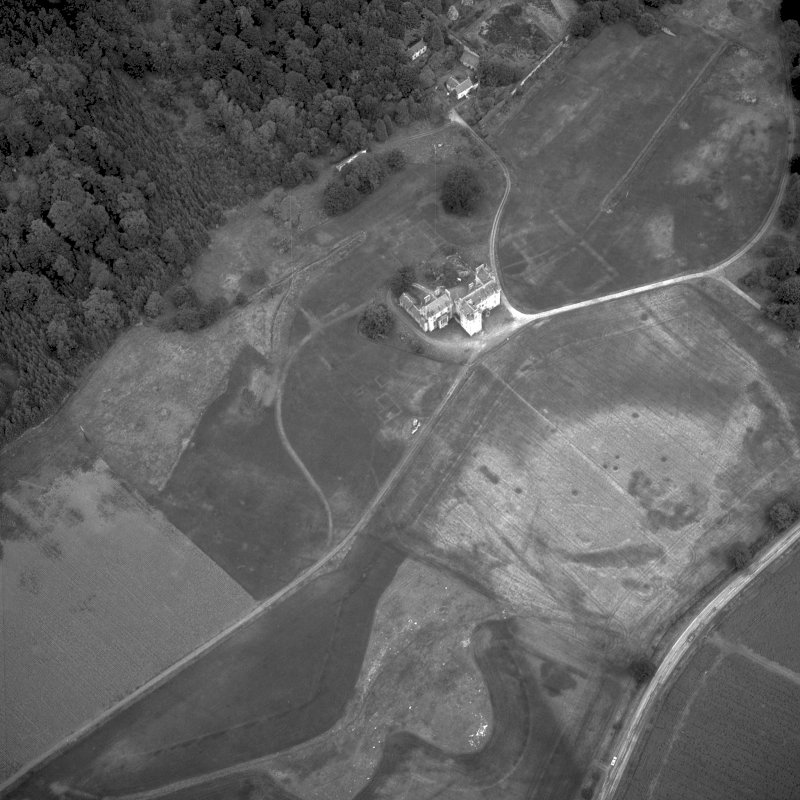 Scanned image of aerial view of Castle Menzies.