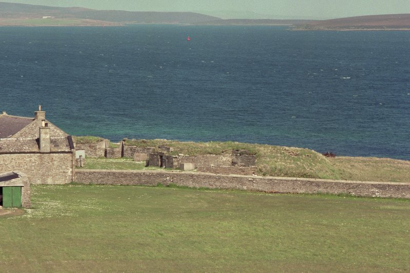 View of gun emplacements from Martello tower to South East.