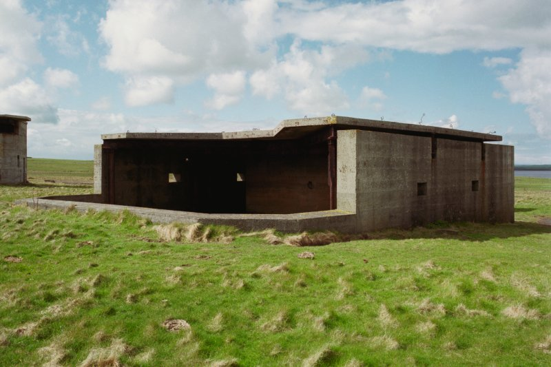 No.1 Gun emplacement, view from North East.
