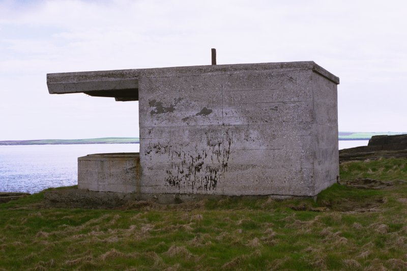 Searchlight No.1 emplacement, view from North.