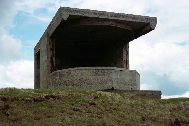 Searchlight No.1 emplacement, view from East.